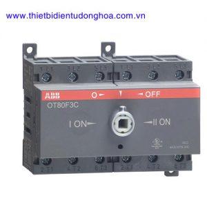 Bộ chuyển đổi nguồn điện 3P loại ABB OT 16…125A