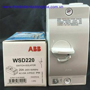 Cầu dao cách ly chống nước ABB 2P, 20A WSD220