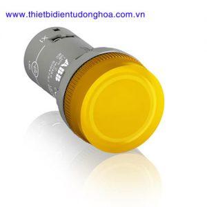 Nút nhấn đèn báo đầu bằng loại khối ABB CL2-502Y