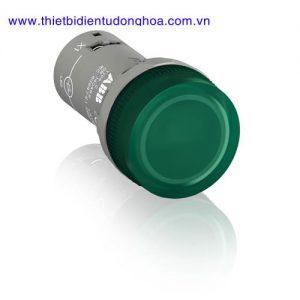Nút nhấn đèn báo đầu bằng loại khối ABB CL2-513G