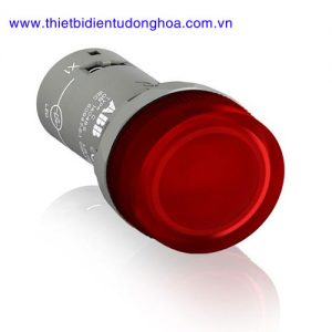 Nút nhấn đèn báo đầu bằng loại khối ABB CL2-513R