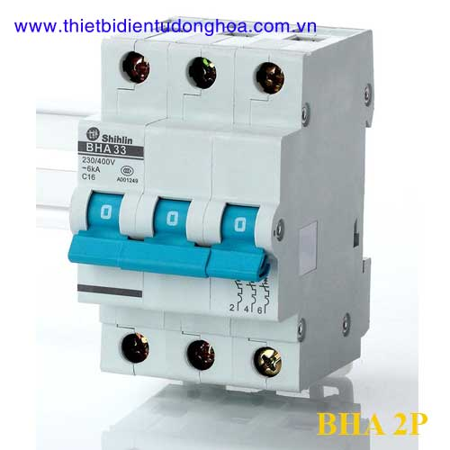 MCB (CB tép) Shihlin BHA 3P 80.100A, 10kA (Màu trắng)
