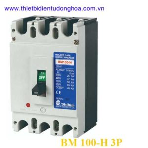 MCCB (Aptomat) Shihlin BM 100-H 3P 15.20.30.40.50.60.75.100A